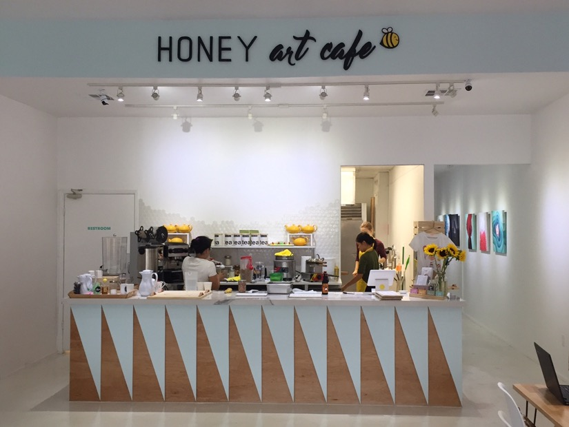 Counter at Honey Art Cafe in Houston