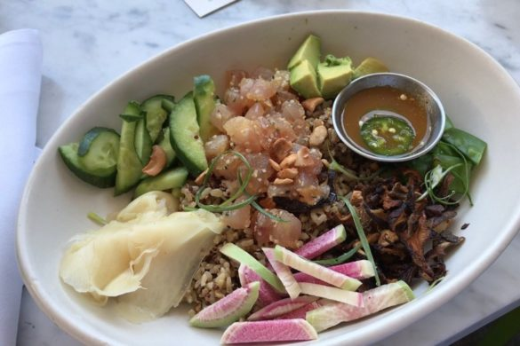 I ordered this healthy and tasty poke bowl for lunch at True Food Kitchen in Galleria-Uptown Houston
