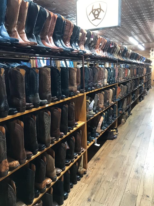 Allens Boots Austin - famous boot store on South Congress Ave with tens of thousands of boots