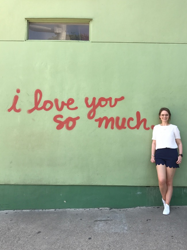I love you so much - wall art on South Congress Ave Austin