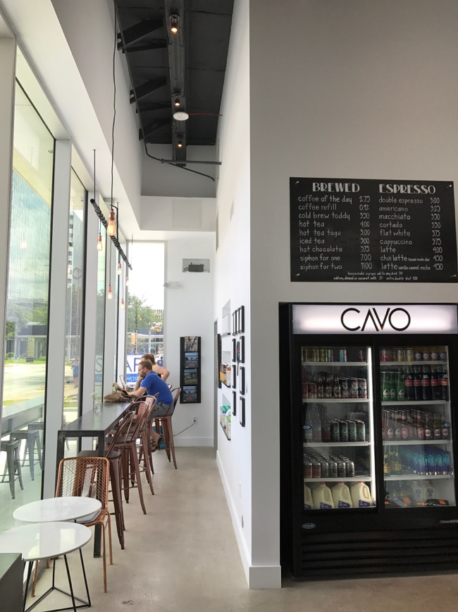 Modern coffee shop in Houston: Cavo Coffee