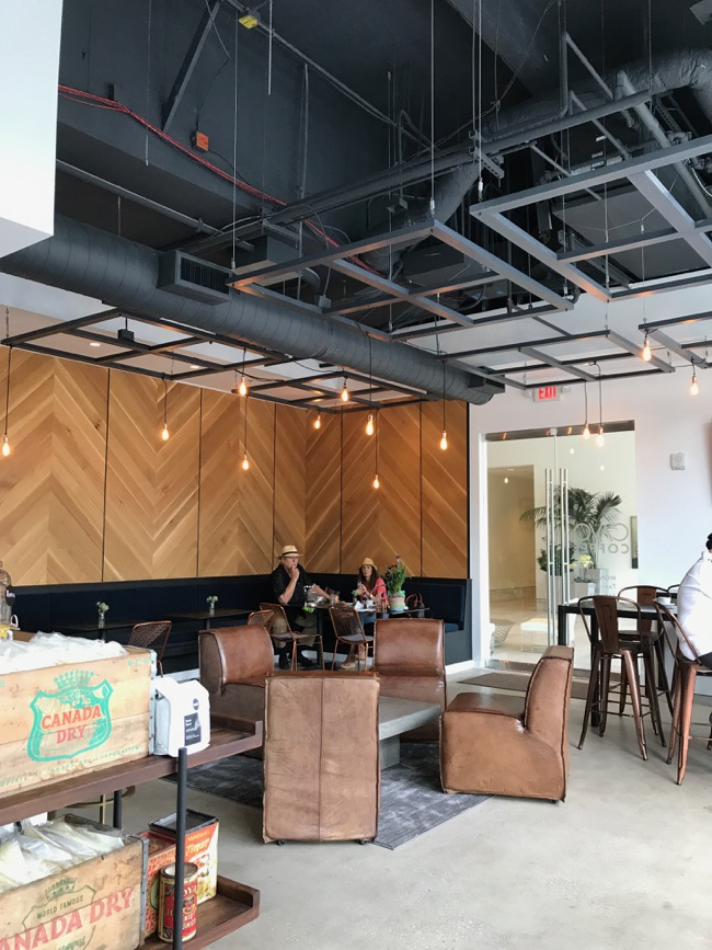 Modern and trendy coffee shop in Houston: Cavo Coffee