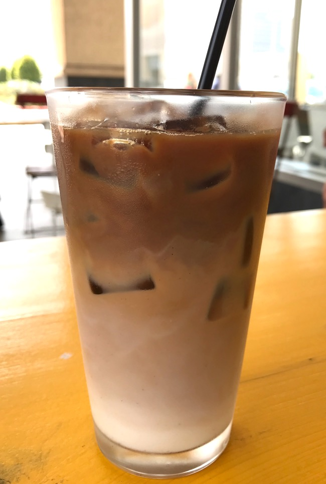 Iced Latte at Merchant Houston in the Galleria area