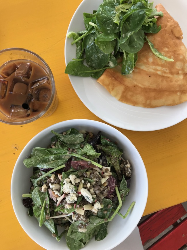Lox Crepe and a Blue Cheese Salad at Merchant Houston in the Galleria area