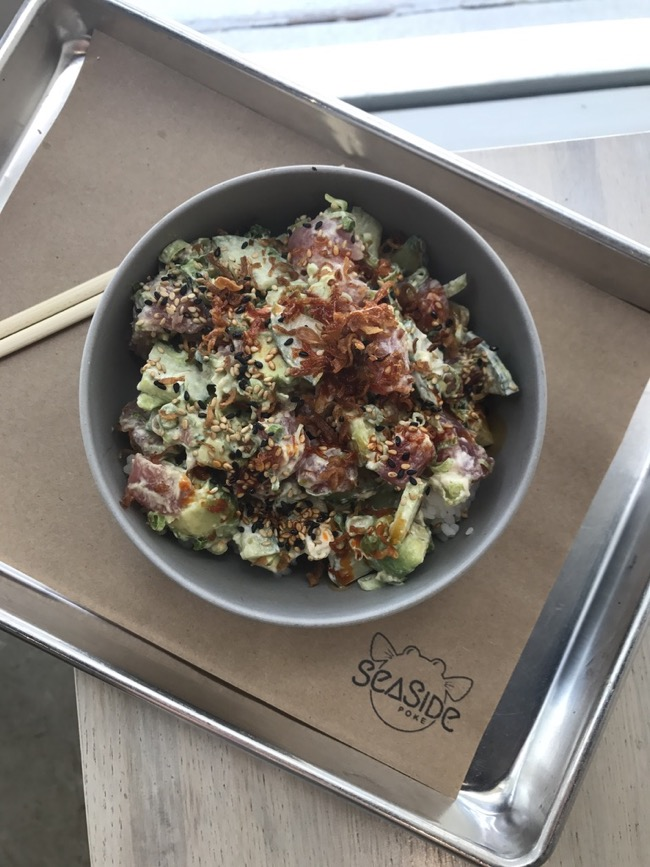 Delicious Tuna Aioli Poké Bowl from Seaside Poke in Houston, TX